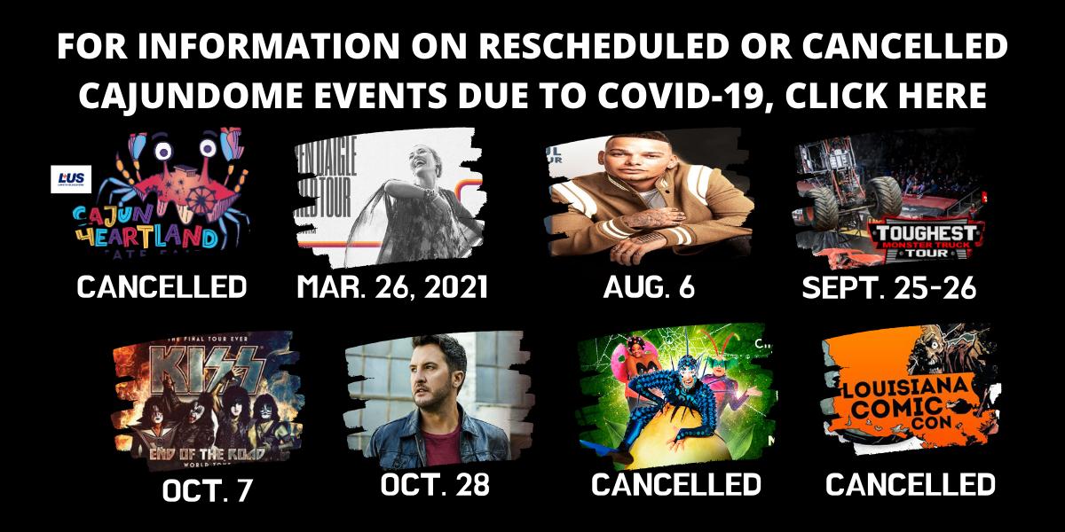 CAJUNDOME Alert Event Updates Slideshow Image