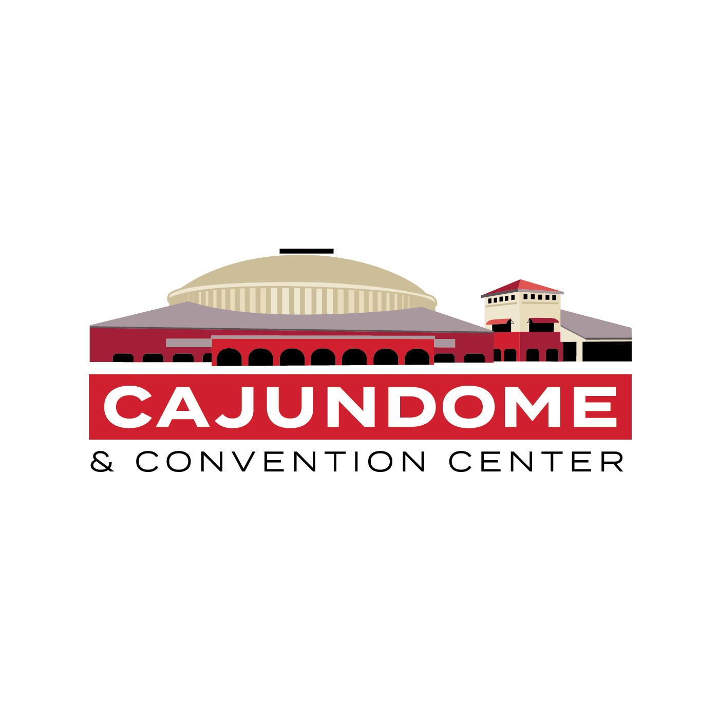 Cajundome_darkbackground_redbar_fullwhiteoutline_RGB.png