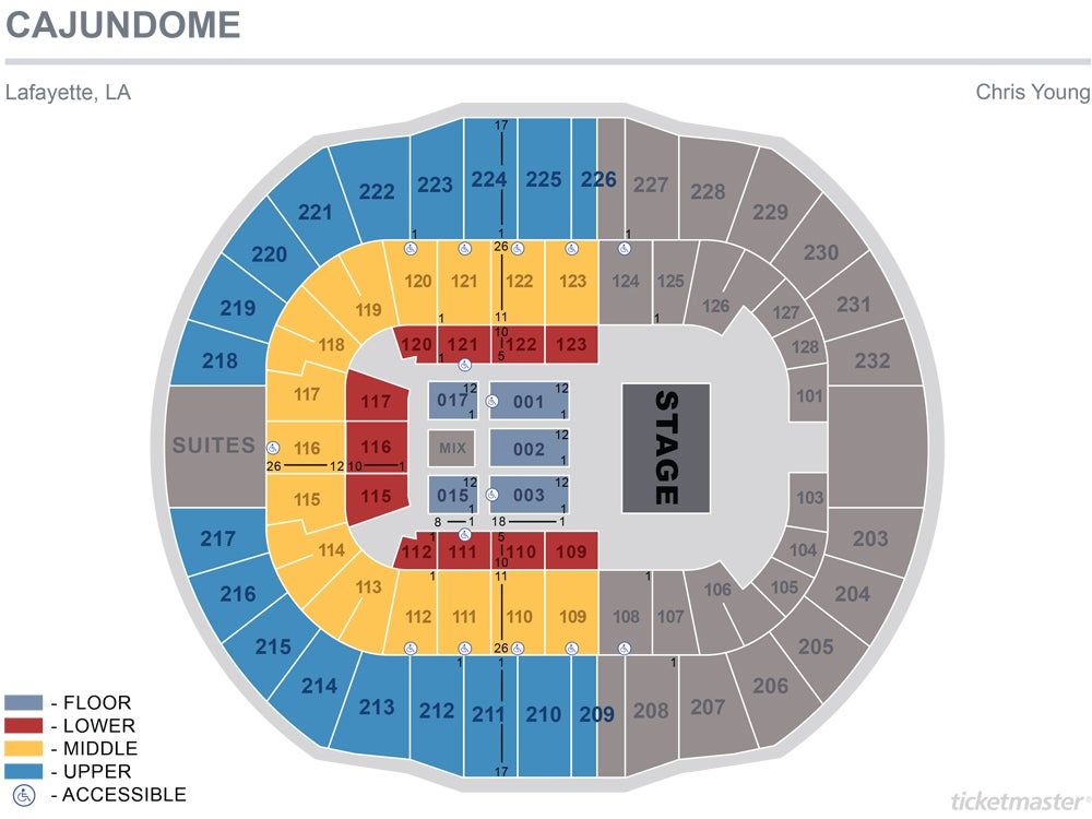 Chris Young 2019 Seating Chart