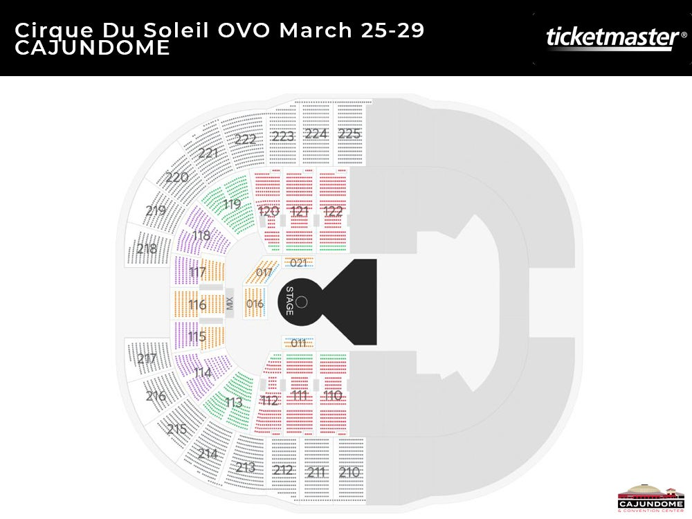 Cirque Du Soleil OVO Seating Chart