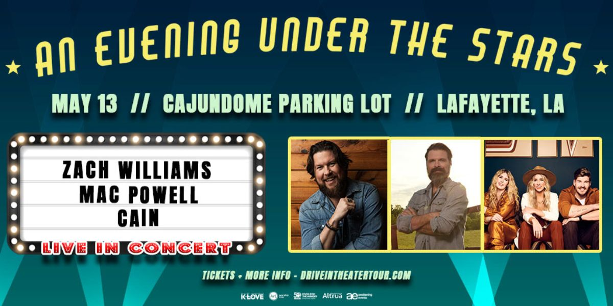 AN EVENING UNDER THE STARS WITH ZACH WILLIAMS, MAC POWELL & CAIN