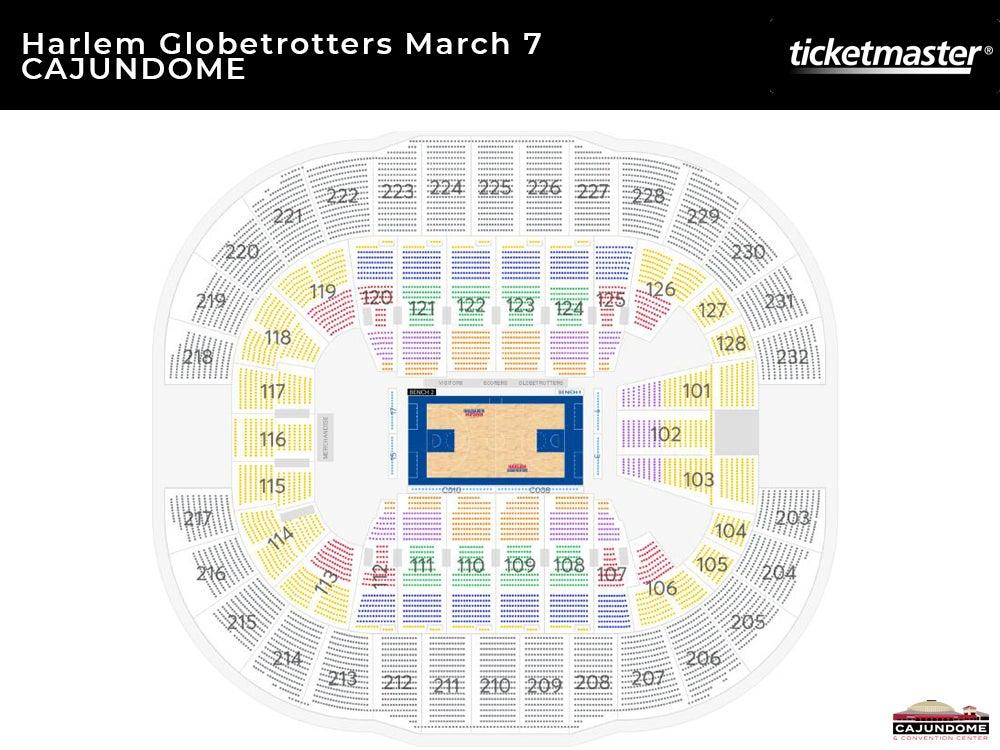 Harlem Globetrotters Seating Chart