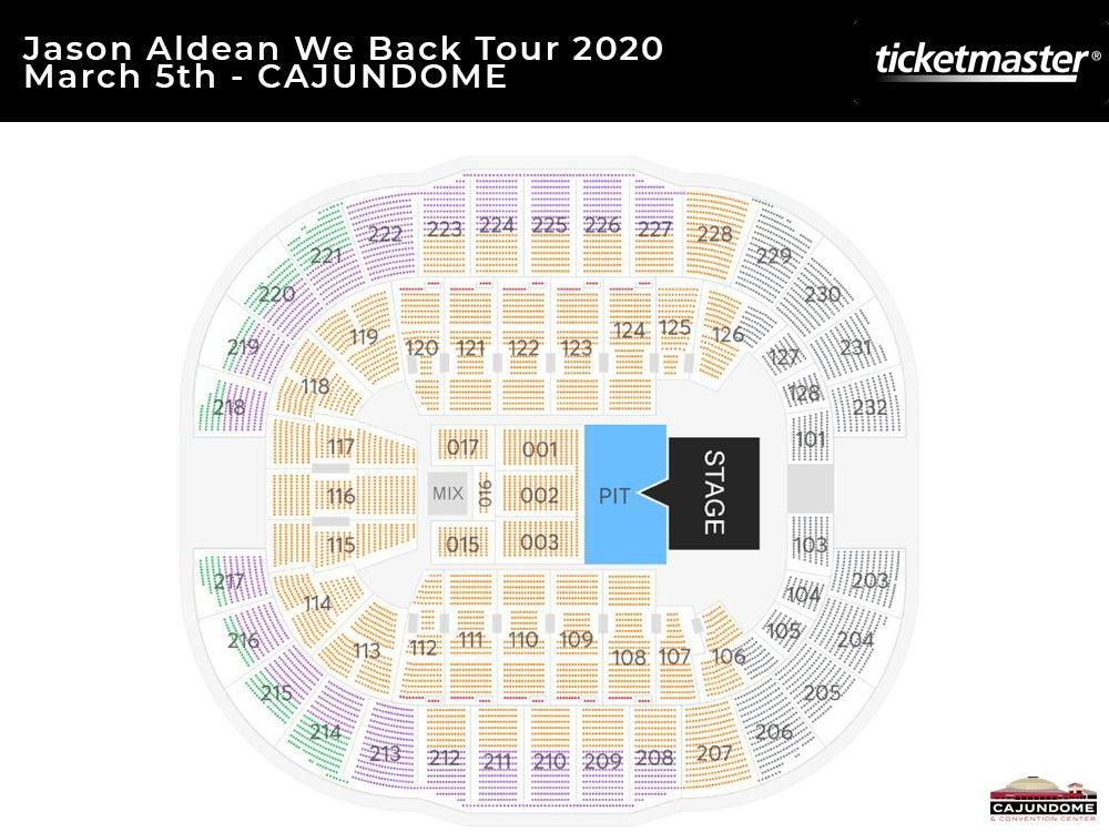 Jason Aldean We Back Tour Seating Map