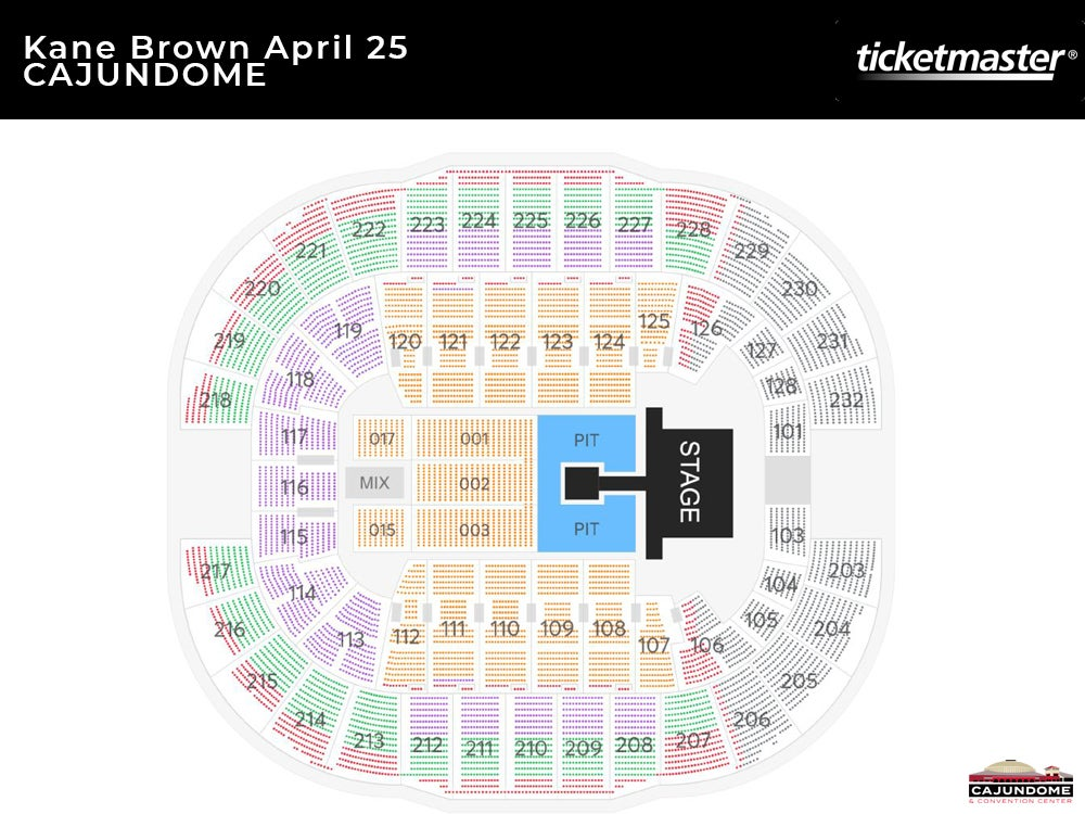 Kane Brown The Worldwide Beautiful Tour Seating Chart