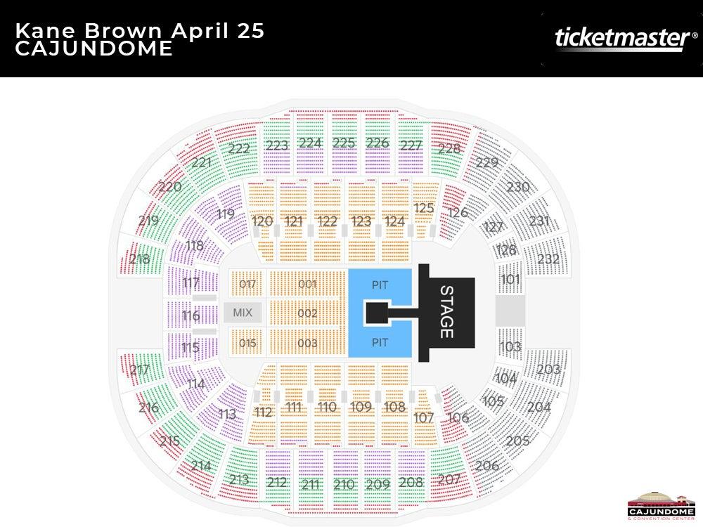 Kane Brown The Worldwide Beautiful Tour Seating Chart