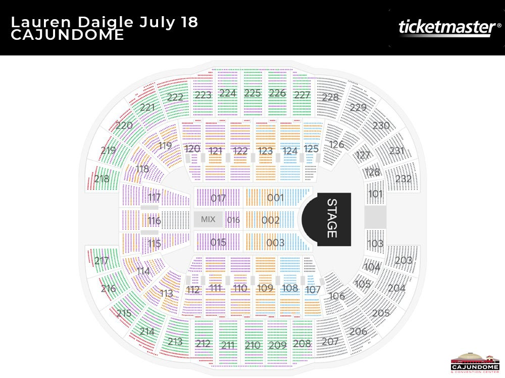 Lauren Daigle World Tour Seating Chart