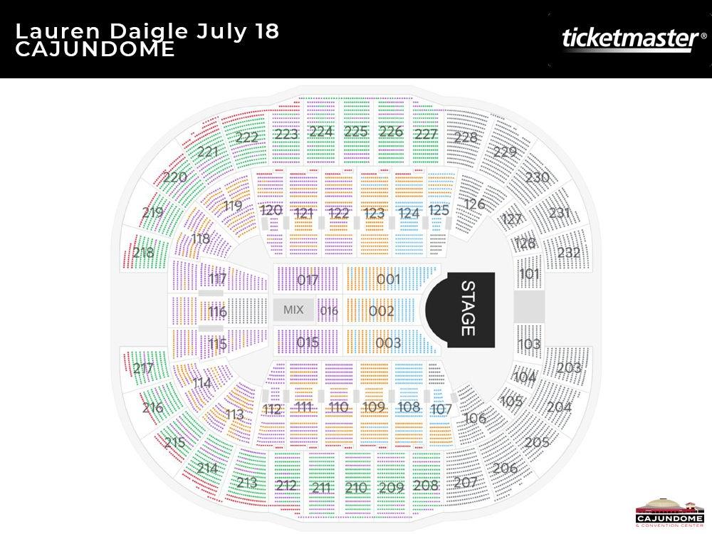 Lauren Daigle World Tour Seating Chart