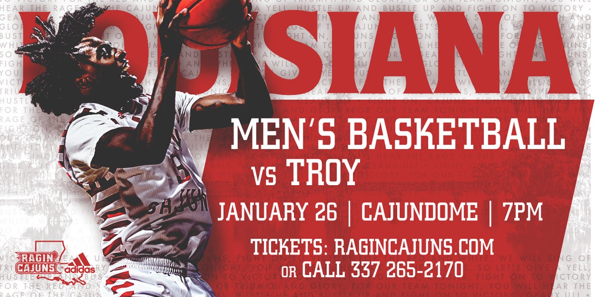 Ragin' Cajun Men's Basketball vs. Troy