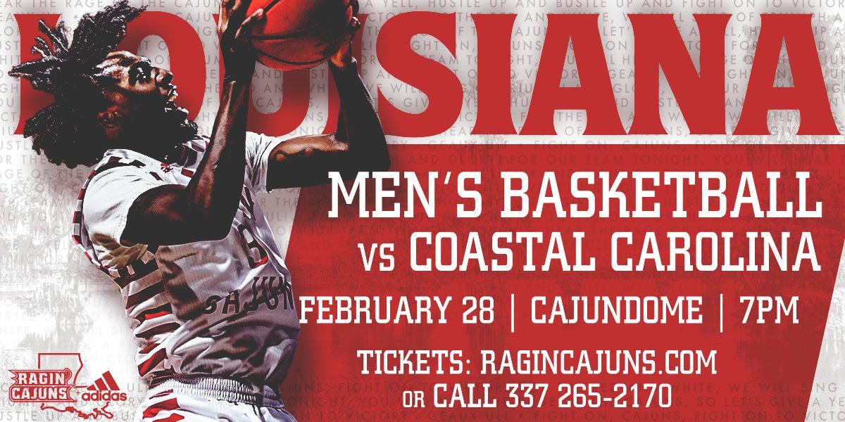 Ragin' Cajun Men's Basketball vs. Coastal Carolina