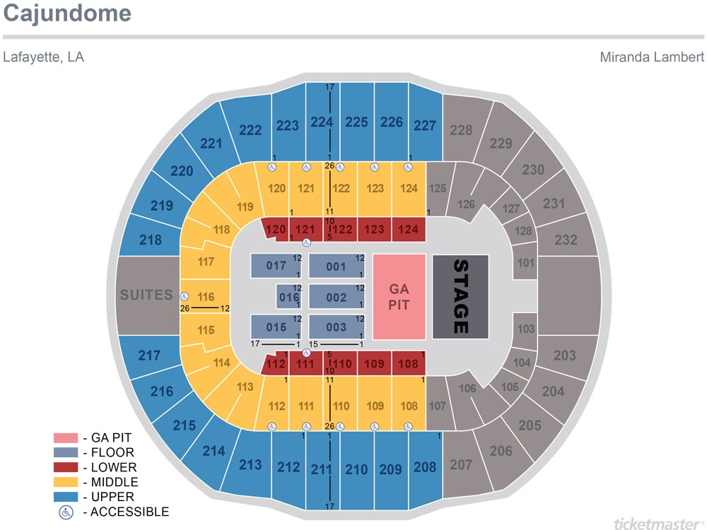 Miranda Lambert 2019 Seating Chart