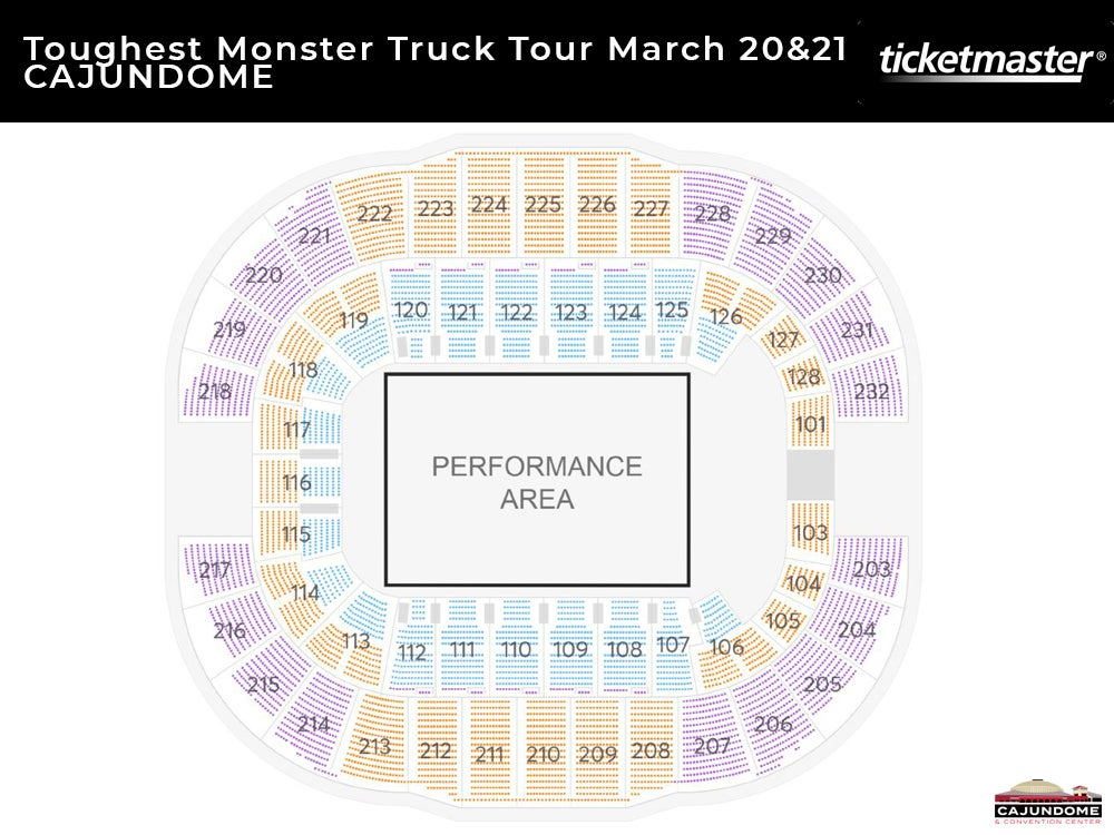 Toughest Monster Truck Tour Seating Chart