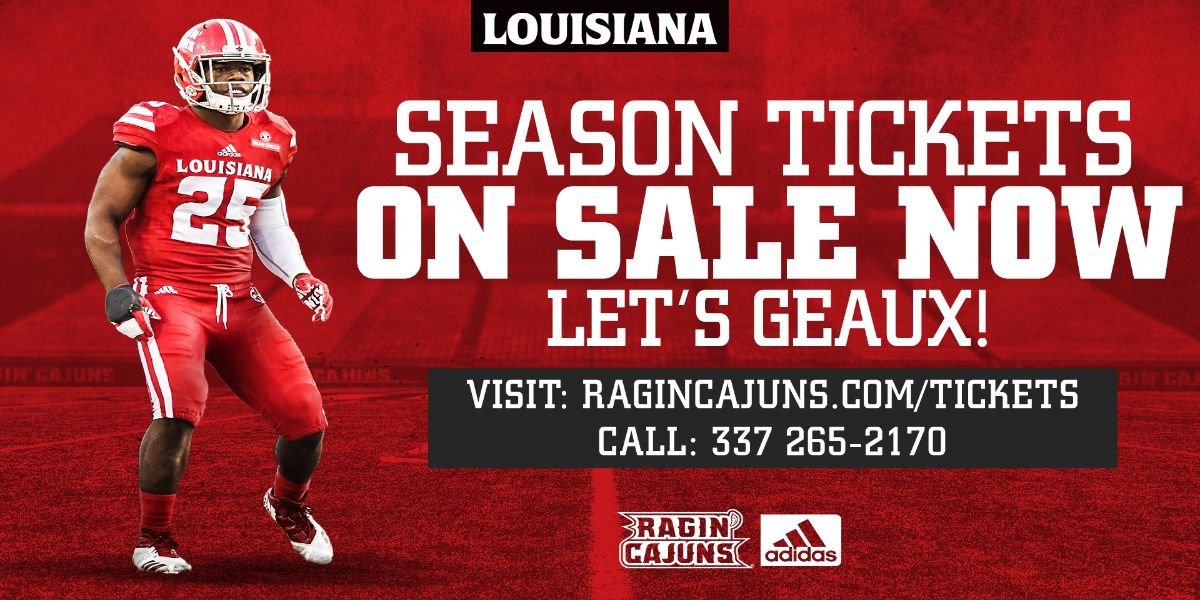 LOUISIANA RAGIN' CAJUN FOOTBALL VS. TROY
