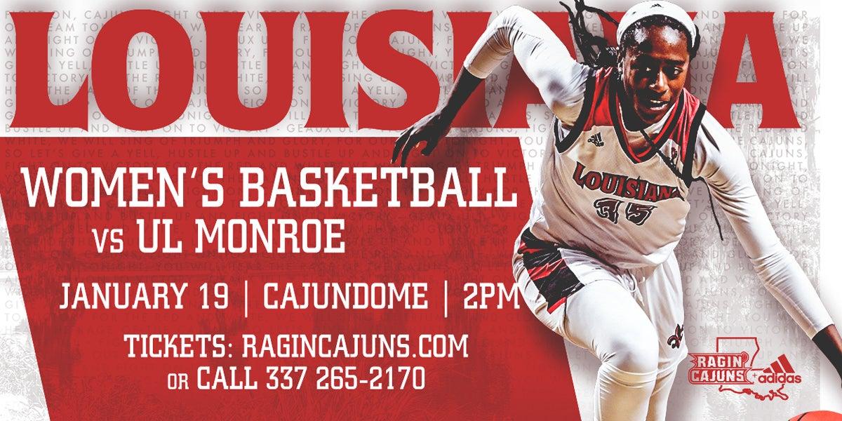 Ragin' Cajun Women's Basketball vs UL Monroe