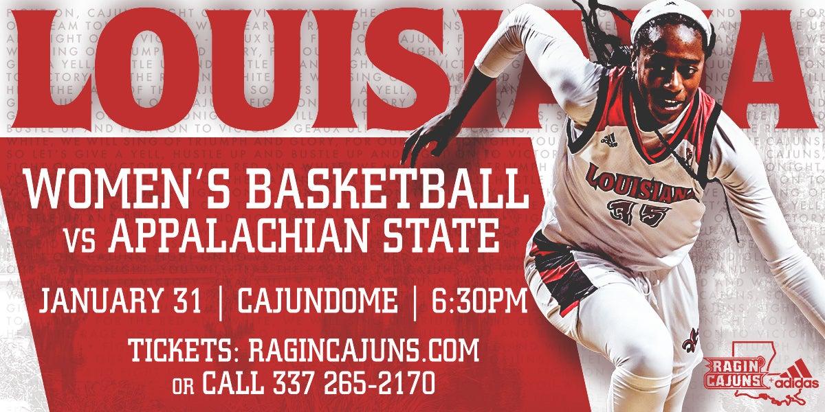 Ragin' Cajun Women's Basketball vs Appalachian State