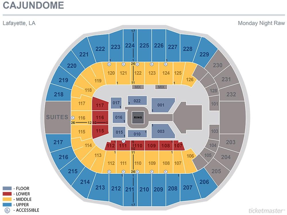 WWE LIVE 2020 Seating Chart