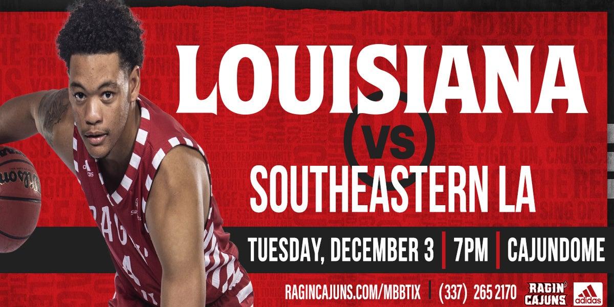 Ragin' Cajun Men's Basketball vs. Southeastern Louisiana