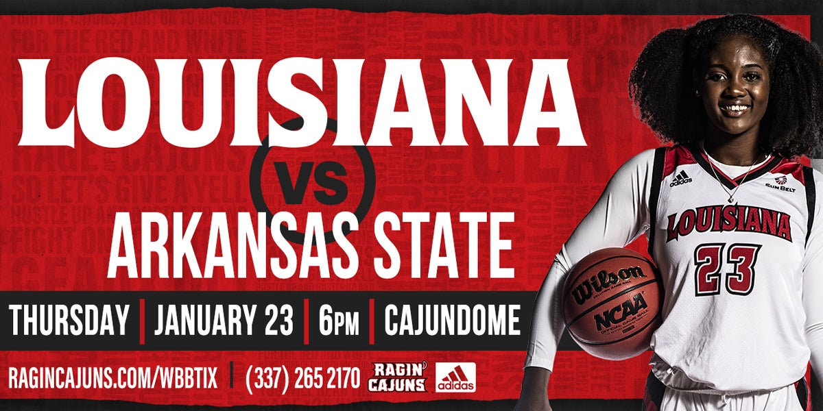 Ragin' Cajun Women's Basketball vs Arkansas State