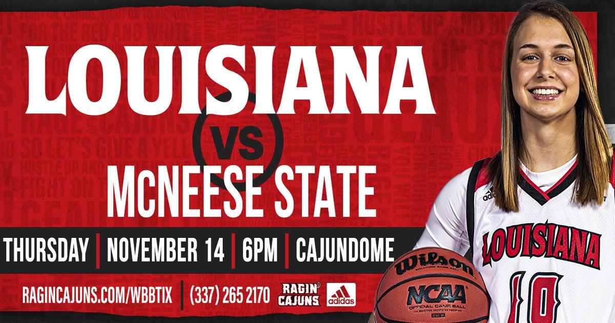 Ragin' Cajun Women's Basketball vs McNeese