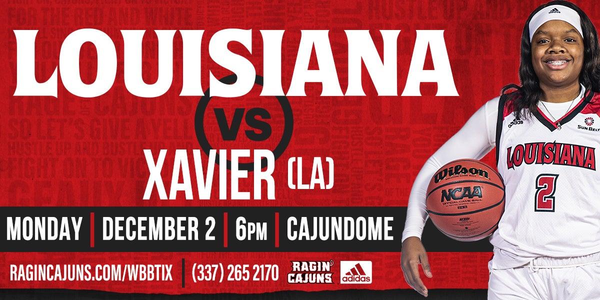 Ragin' Cajun Women's Basketball vs Xavier